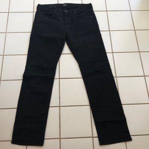 Men's Hudson Dark Black Byron 5 Pocket Straight